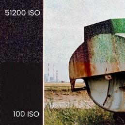 Comparaison du bruit à 100 ISO et à 51200 ISO