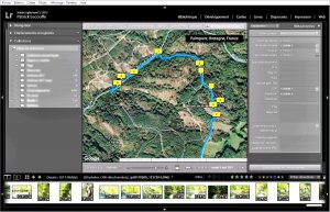 Module carte de Lightroom, copie d'écran