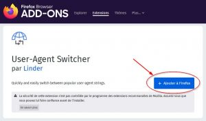 Comment installer User-Agent Switcher