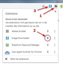 Activation d'une extension pour Chrome
