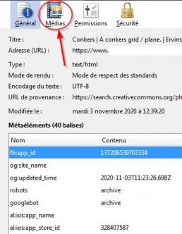 Fenetre des information de Firefox